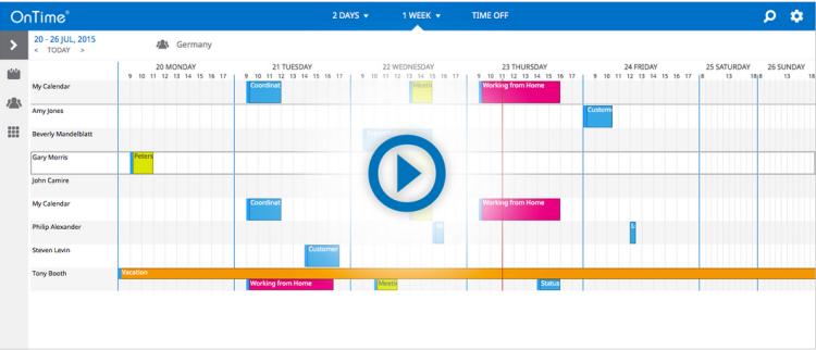 Ontime felleskalender for Microsoft
